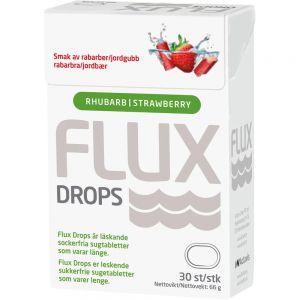 Flux Drops Jordbær-Rabarbra 30 stk, ApotekForDeg, 963996