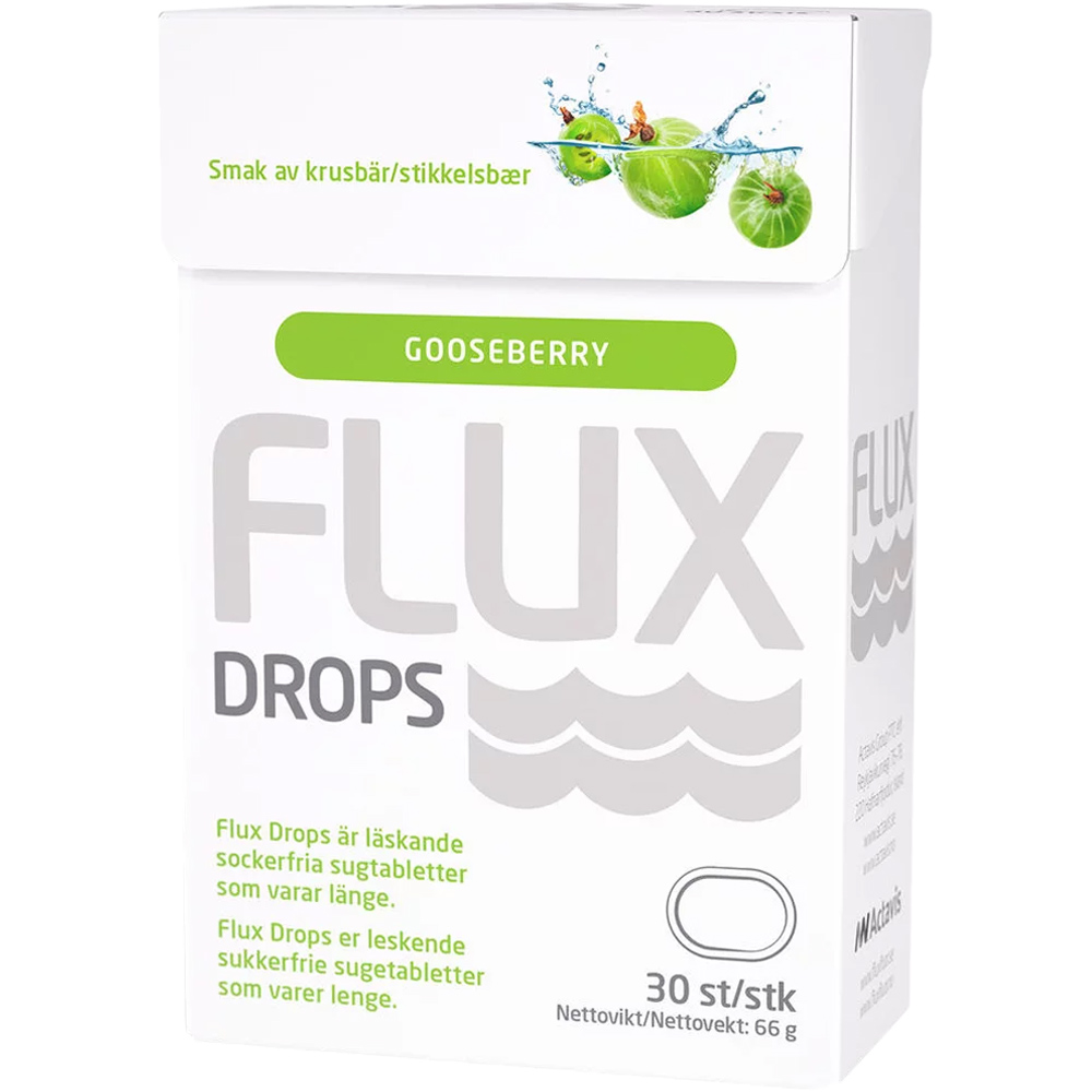 Flux Drops Stikkelsbær 30 stk, ApotekForDeg, 822520