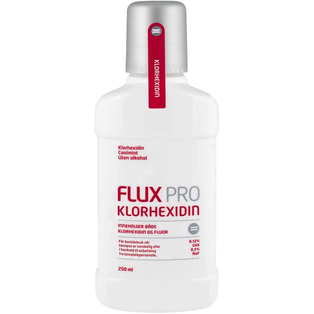 Flux Pro Klorhexidin Munnskyll 250 ml, ApotekForDeg, 914577
