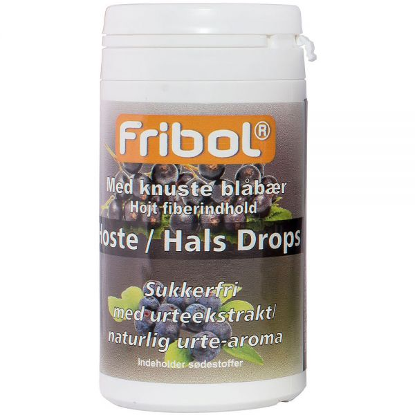 Fribol Sukkerfri Hoste-Hals Drops Blåbær 60 g, ApotekForDeg, 903942