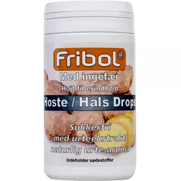 Fribol Sukkerfri Hoste-Hals Drops Ingefær 60 g, ApotekForDeg, 999941