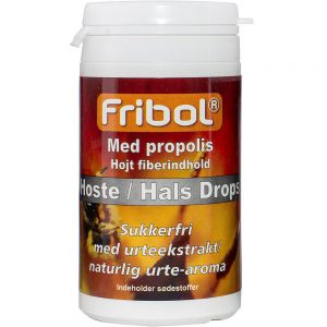 Fribol Sukkerfri Hoste-Hals Drops Propolis 60 g, ApotekForDeg, 922943