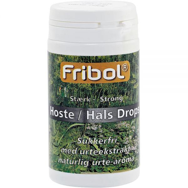 Fribol Sukkerfri Hoste-Hals Drops Sterk 60 g, ApotekForDeg, 902353