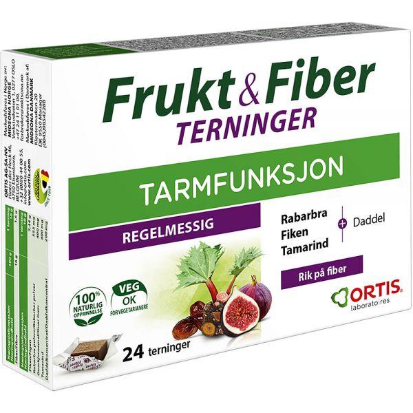 Frukt & Fiber Terninger 24 stk, ApotekForDeg, 922259