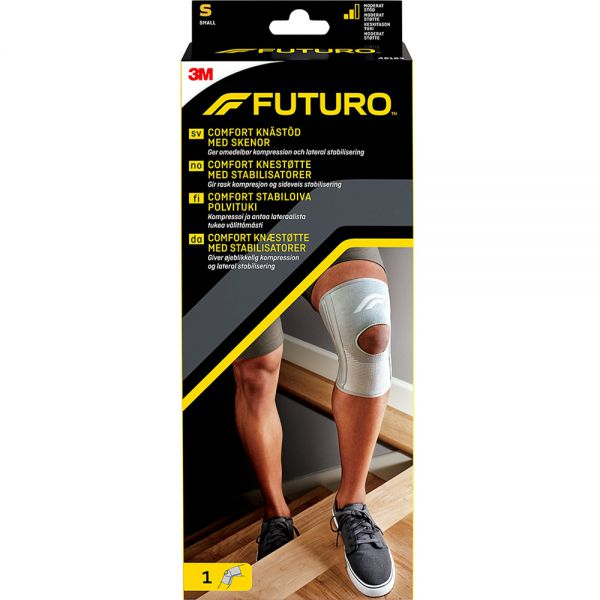 Futuro Comfort Knestøtte m:Skinne Small 1 stk - ved smerter i kne, Apotekfordeg, 879243