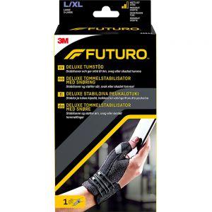 Futuro Deluxe Sort Tommelstøtte L:XL 1 stk - støtte for skadet tommel, Apotekfordeg, 829732