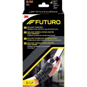 Futuro Deluxe Sort Tommelstøtte S:M 1 stk - støtte for skadet tommel, Apotekfordeg, 810109