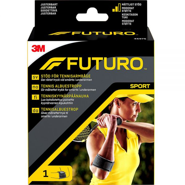 Futuro Sport Tennisalbue One Size 1 stk - lindrer smerter i albue:underarm, Apotekfordeg, 903978