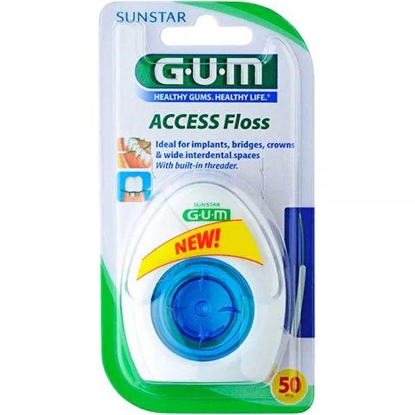 Gum Access Floss Tanntråd m-Fører, 50 stk, ApotekForDeg,850777