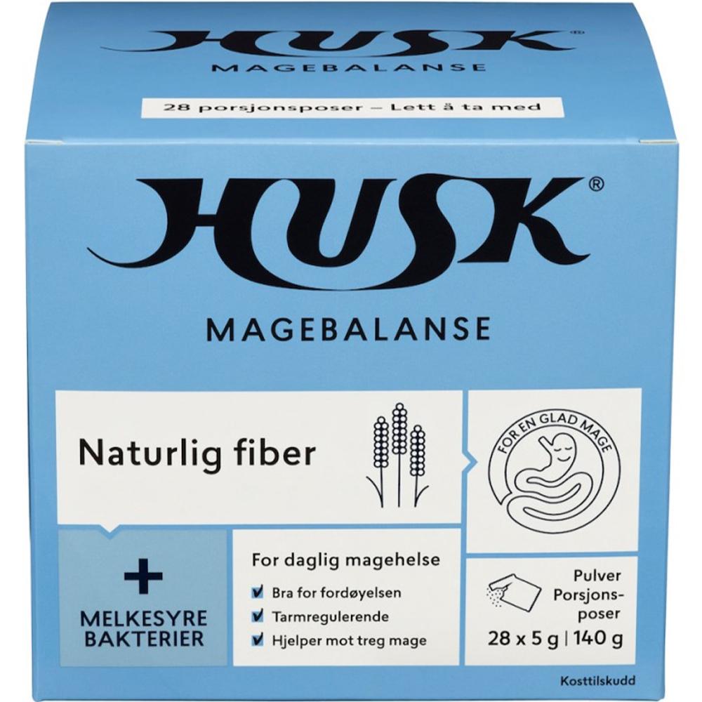 Husk Naturlig Fiber Doseposer 28×5 g med melkesyrebakterier, Apotekfordeg, 912702