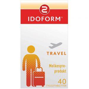 Idoform Travel Tyggetabletter med Melkesyrebakterier 40 stk, ApotekForDeg, 903481