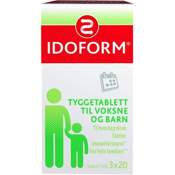 Idoform Tyggetabletter med Probiotika 3×20 stk, ApotekForDeg, 890328