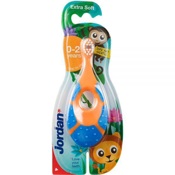 Jordan step tannbørste til barn 0-2 år, 1 stk, ApotekForDeg, 816322