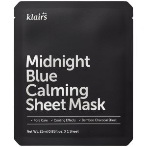Klairs Midnight Blue Calm Sheetmask 1 stk, apotekfordeg, 809594