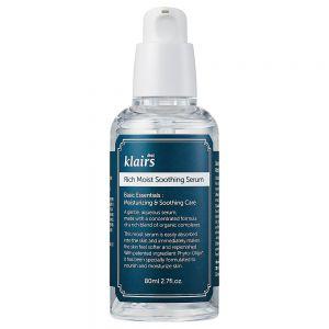 Klairs Rich Moist Soothing Serum 80 ml, beroligende og fuktgivende serum, apotekfordeg, 964264