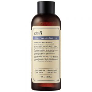 Klairs Supple Preparation Facial Toner 150 ml, fuktgivende toner med hyaluronsyre og planteekstrakter, apotekfordeg, 986989