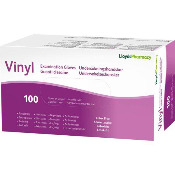 LLP Hansker Vinyl Pudderfri str M 100 stk, Apotekfordeg, 989934