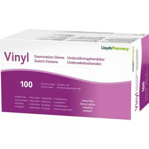 LLP Hansker Vinyl Pudderfri str XL 100 stk, Apotekfordeg, 969631