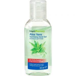 LLP aloe vera desinfeksjons håndgele, bakteriedrepende 50 ml, Apotekfordeg, 986952