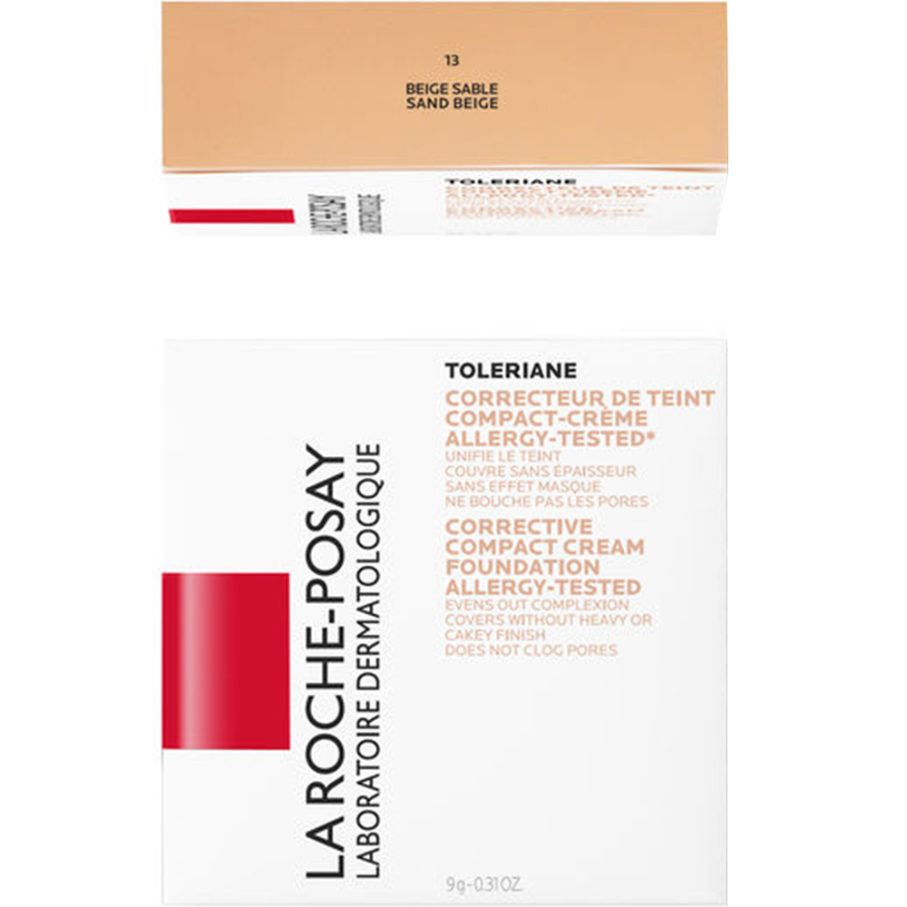 La Roche-Posay Toleriane Compact 13 - dekkende kremfoundation, Apotekfordeg, 825062