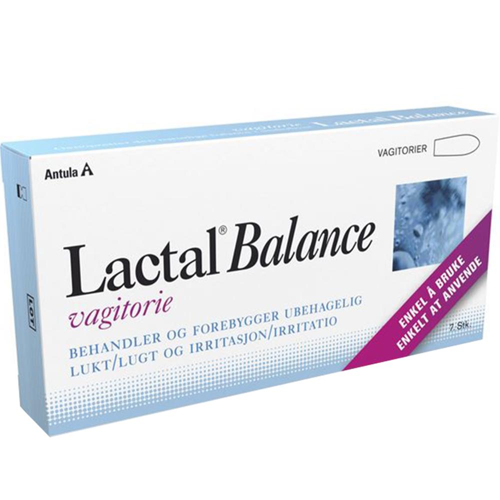 Lactal Balance Vagitorie 7 stk mot lukt og irritasjon i underlivet, Apotekfordeg, 903688