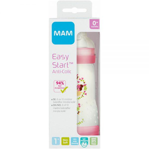 MAM easy start anti-kolikk tåteflaske med selvsteriliserende funksjon, Apotekfordeg, 950684