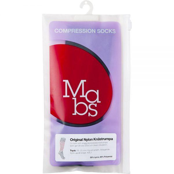 Mabs nylon kne kompresjonsstrømpe sort – str M, 1 par, ApotekForDeg, 889204
