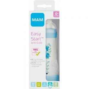 Mam Easy Start Anti-kolikk Tåteflaske Blå 260 ml 1 stk - med selvsteriliserende funksjon, Apotekfordeg, 808371