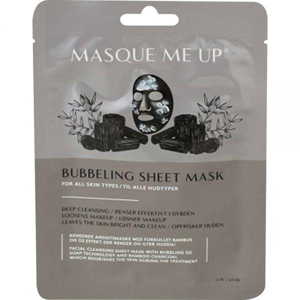 Masque Me Up Bubbeling Sheet Mask 1 stk - renser og frisker opp huden, Apotekfordeg, 928529