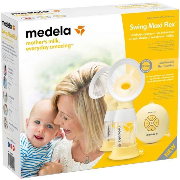 Medela Swing Maxi Flex Dobbel Elektrisk Brystpumpe 1 sett, ApotekForDeg, 825254