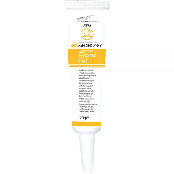 Medihoney wound gel sårgel med 80 % antibakteriell medisink honning, 5 x 20 g, ApotekForDeg, 848948