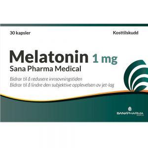 Melatonin 1 mg Sana Pharma Medical 30 stk, ApotekForDeg, 849862