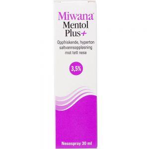 Miwana Plus 3,5% Nesespray Mentol 30 ml, ApotekForDeg, 902674