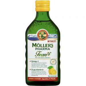 Møllers Pharma Tran D+ Sitronsmak 250 ml, ApotekForDeg, 870964