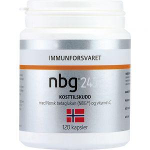 Nbg 24-7 Kosttilskudd Kapsler 120 stk - for immunforsvaret, Apotekfordeg, 985992