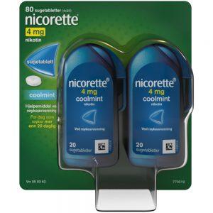 Nicorette Coolmint sugetabletter, Apotekfordeg, 50362