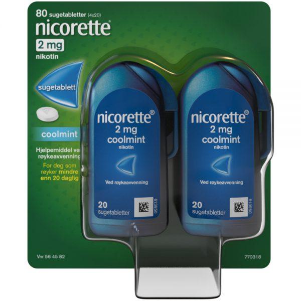 Nicorette Coolmint sugetabletter, Apotekfordeg, 564582