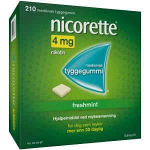 Nicorette Freshmint tyggegummi, Apotekfordeg, 30687