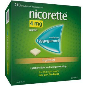 Nicorette Fruitmint tyggegummi, Apotekfordeg, 32696