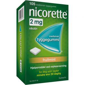 Nicorette Fruitmint tyggegummi, Apotekfordeg, 32715