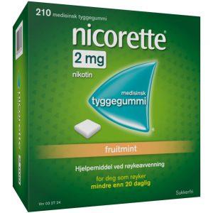 Nicorette Fruitmint tyggegummi, Apotekfordeg, 32724