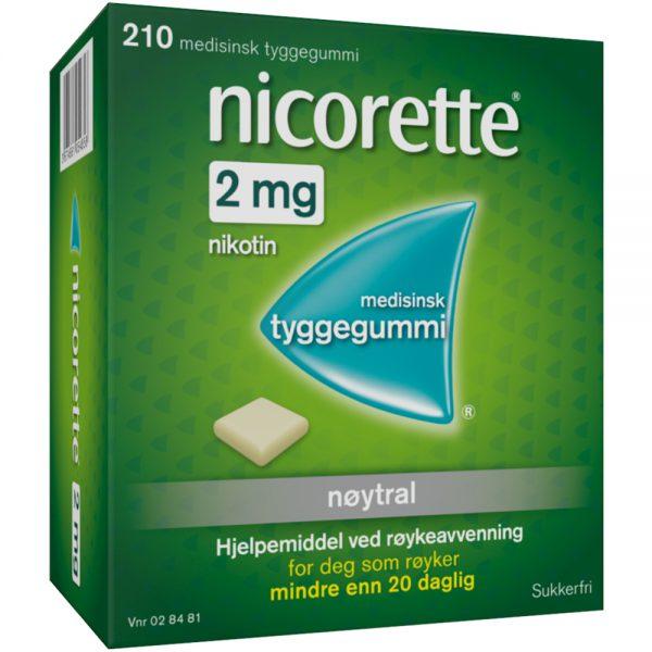 Nicorette Nøytral tyggegummi, Apotekfordeg, 28481