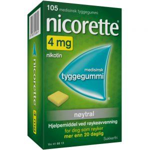 Nicorette Nøytral tyggegummi, Apotekfordeg, 418813
