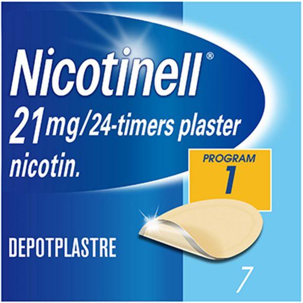 Nicotinell depot plaster 21mg-24timer, 7stk, ApotekForDeg, 12799
