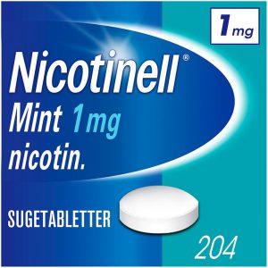 Nicotinell sugetablett 1mg mint, 204stk, ApotekForDeg, 2754