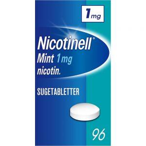 Nicotinell sugetabletter 1mg med mint, 96 stk, ApotekForDeg, 8287