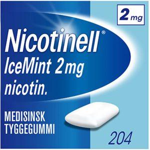 Nicotinell tyggegummi 2mg icemint, 204stk, ApotekForDeg, 81635
