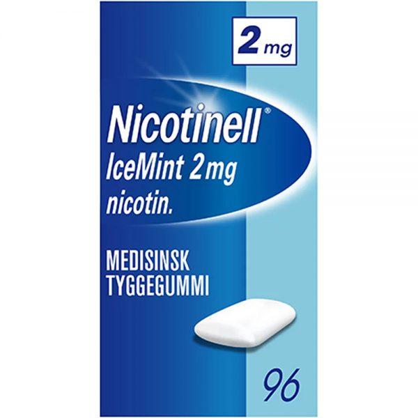 Nicotinell tyggegummi 2mg icemint, 96stk, ApotekForDeg, 81624