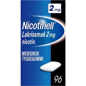 Nicotinell tyggegummi 2mg med lakrissmak, 96stk, ApotekForDeg, 19339