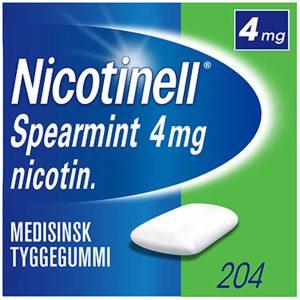 Nicotinell tyggegummi 4mg med spearmint, 204stk, ApotekForDeg, 84456
